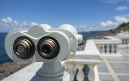 Binocolo per il turista Fotografie Stock Libere da Diritti