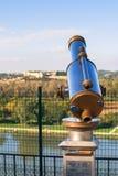 Binocolo, piattaforma di osservazione Fotografie Stock Libere da Diritti