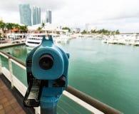 Binocolo sull'orizzonte di Miami Fotografia Stock Libera da Diritti
