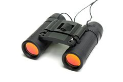 Binocular. Looking binocular lens for searching or watching stock images