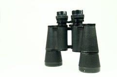 Binocular. Used black binocular isolated on white Stock Photo