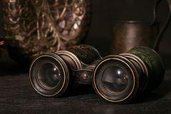 Binocular. The field-glass and other old subjects Stock Image