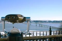 Binocular. A binocular for tourist in Quebec Stock Image