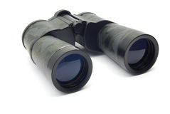 Binocular. Camouflage binocular on white background stock photography