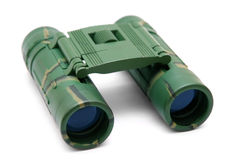 Binocular. Camouflage binocular isolated on white Royalty Free Stock Photography