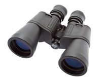 Binocular. Black metallic binocular top view - isolated royalty free stock image