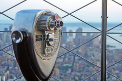 Binocular. Coin operated binocular ath the top of the Empire States Building, New York, USA stock image