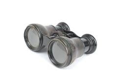 Binocular. Isolated antique binocular on white background royalty free stock photo