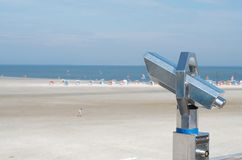 Binocular at the beach Stock Photography