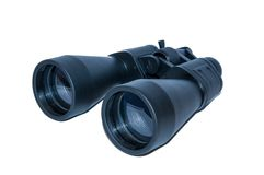 Binocular. Black binocular with white background royalty free stock images