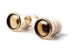 Binocular blanco Fotos de archivo