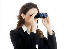Binocular business woman Stock Photos