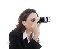 Binocular business woman Stock Photo