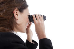 Binocular business woman Stock Images
