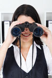 Binocular businesswoman Stock Photography