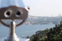 Binocular de fichas con Estambul Imagenes de archivo