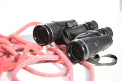 Binocular on the deck of yacht Royalty Free Stock Photography