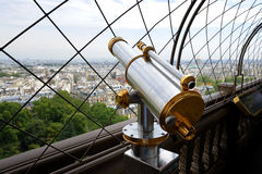 Binocular on Eiffel Tower Stock Images
