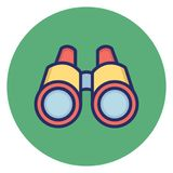 Binocular, explorer Vector Icon which can easily edit royalty free illustration