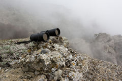 Binocular in high mountains. royalty free stock photos