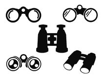 Binocular Icon Symbol Set Stock Photography
