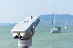 Binocular at Lake Balaton Royalty Free Stock Photos