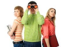 Binocular look Stock Images