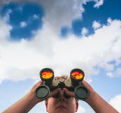 Binocular Lookout Stock Image