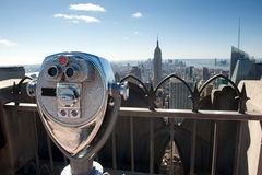 Binocular in new york Royalty Free Stock Image