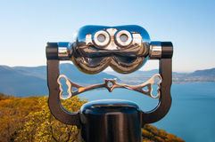 Binocular observation Stock Photos