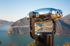 Binocular observation Royalty Free Stock Photography