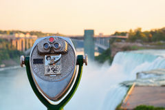 Binocular overlook American Falls Royalty Free Stock Photo