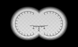 Free Binocular Scale Military View With Optical Sight. Royalty Free Stock Image - 104247306