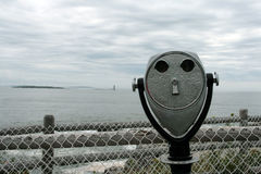 Binocular. A shot of binocular look to a lighthouse Stock Photography