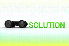 Binocular And Solution In Halftone Background Stock Photography