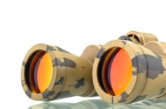 Binocular telescope. Close up on white Stock Photography