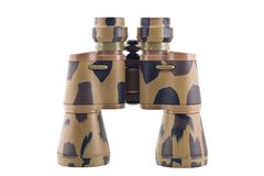 Binocular telescope. Close up on white Royalty Free Stock Photography