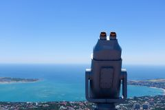 Binocular on the top of building Royalty Free Stock Images