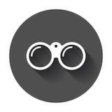 Binocular vector icon. Binoculars explore flat illustration Royalty Free Stock Images
