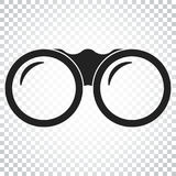 Binocular vector icon. Binoculars explore flat illustration. Sim. Ple business concept pictogram on isolated background Stock Photo
