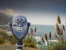 Binocular viewer at big sur Royalty Free Stock Photo