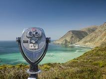 Binocular viewer at big sur Stock Image