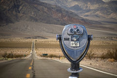 Binocular viewer ON HIGHWAY 190, DEATH VALLEY NATIONAL PARK Stock Image