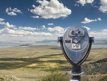 Binocular viewer of Mono Lake Vista Point, Mono County Stock Photography