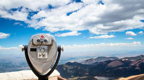 Binocular Viewer. Touristic scenic viewing Colorad Stock Photos