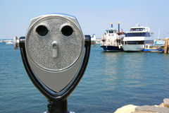 Binocular by the water Royalty Free Stock Image