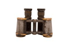 Binocular on white background. German binoculars from the II World War stock photo