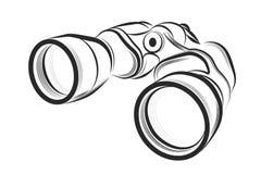 Binocular on a white background. Vector illustration - Binocular on a white background royalty free illustration