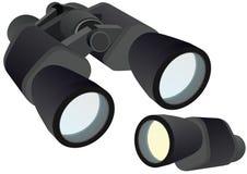 Binocular y monocular Imagen de archivo libre de regalías