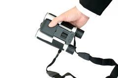 Binoculare digitale della maniglia dell'uomo d'affari Fotografie Stock